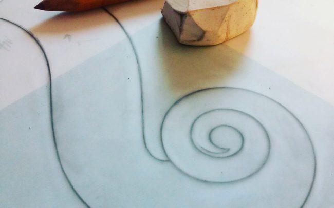 drawing adele sbernini violin maker